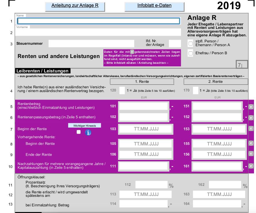 Betriebliche Altersvorsorge Steuererklärung 2021 Wo Eintragen